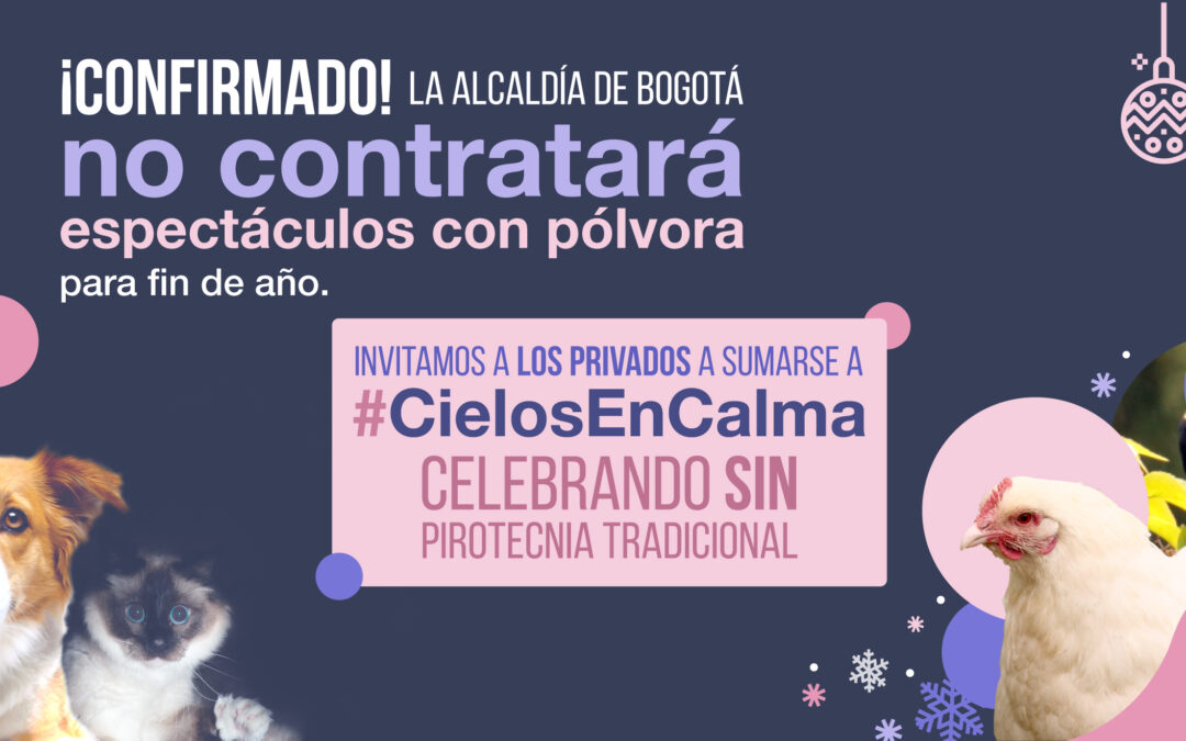 #CielosEnCalma: no habrá pólvora en espectáculos públicos de navidad en Bogotá